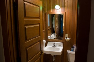 Lake McDonald Lodge Cabin Bathroom