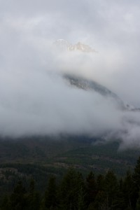 Mt Grinnell in the Clouds